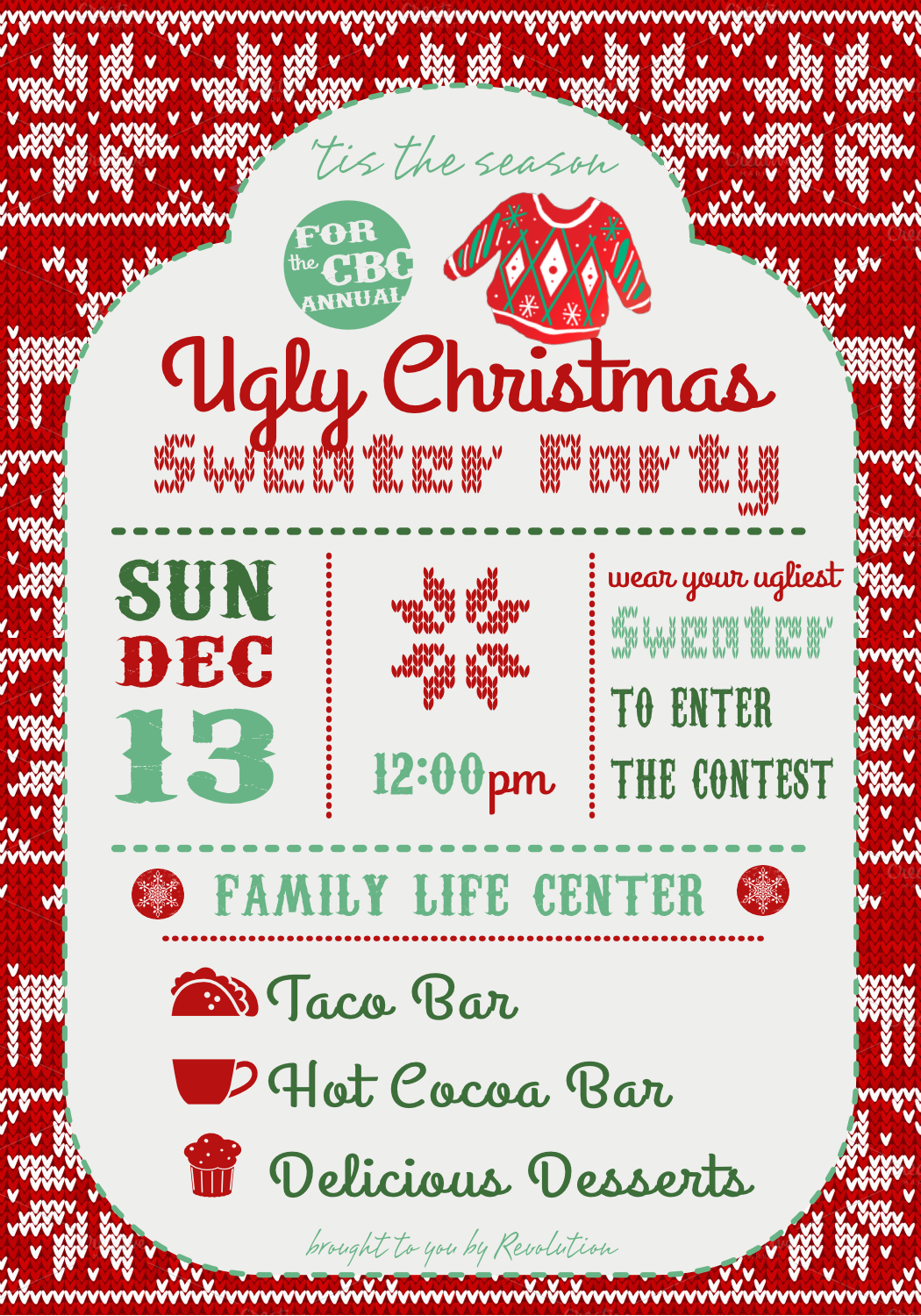 Ugly Christmas Sweater Party | Calvary Bible Chapel